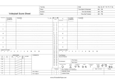 printable volleyball score sheet