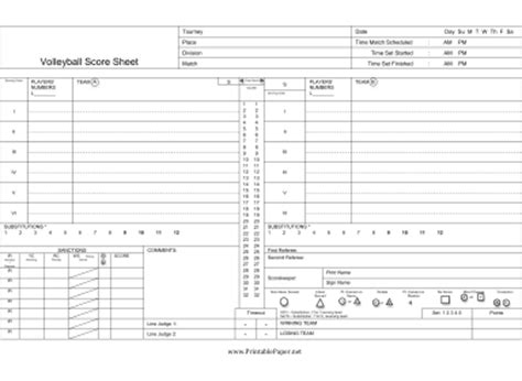 free printable volleyball score sheets printable volleyball score sheet