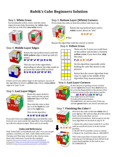 rubiks cube beginners solution  thomas ingui rubiks