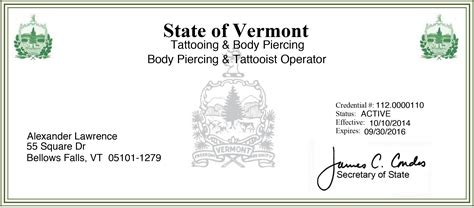 tattoo license certifications