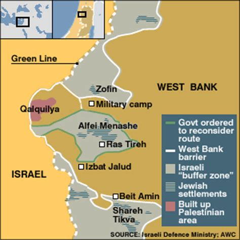 bbc news   at a glance   west bank barrier