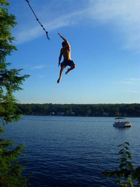 rope swinging panoramio photo of rope swing launch beach pond
