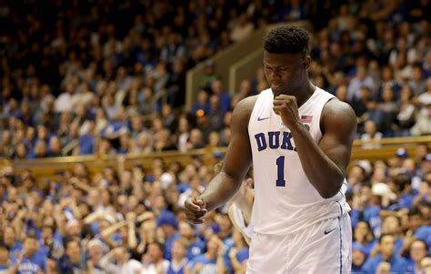 proof duke�s zion williamson can hit head on rim photo