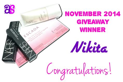 Makeup Giveaway November 2017 - nars deluxe sles giveaway november 2014 winner ang savvy
