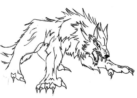 baby werewolf coloring page cute werewolf coloring pages