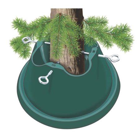 how to stand a real christmas tree heavy duty green easy watering tree stand for live trees up to 8 walmart