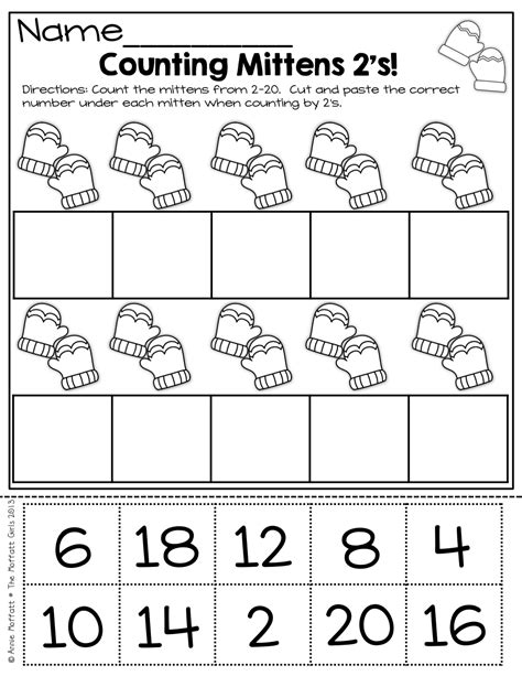 Counting By 2 S Worksheet by Counting By 2 S Cut And Paste And More On