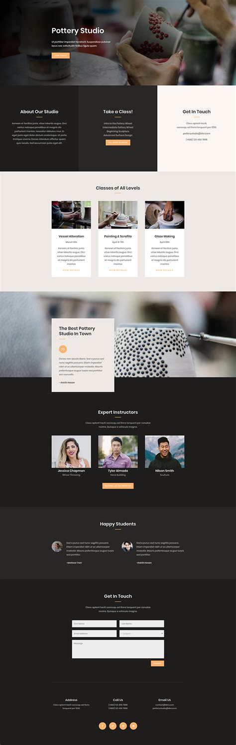home page layout design view located on the ribbon is referred to as get a beautifully polished pottery studio layout pack for