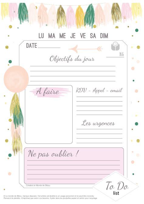 girly printable to do list to do list archives le monde de bibou cadeaux