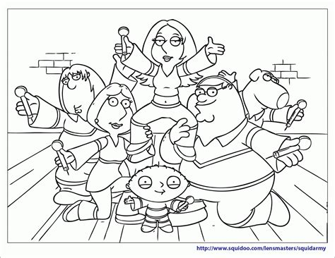 free printable family guy coloring pages squid army