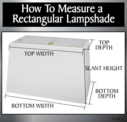How To Measure A L Shade by 36022 Transitional Rectangular Hardback Shaped Spider