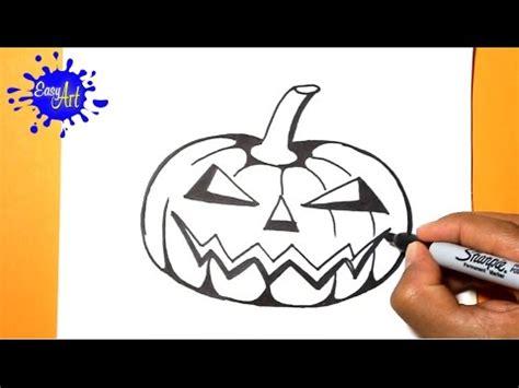 imagenes sencillas de halloween como dibujar una calabaza halloween how to draw a