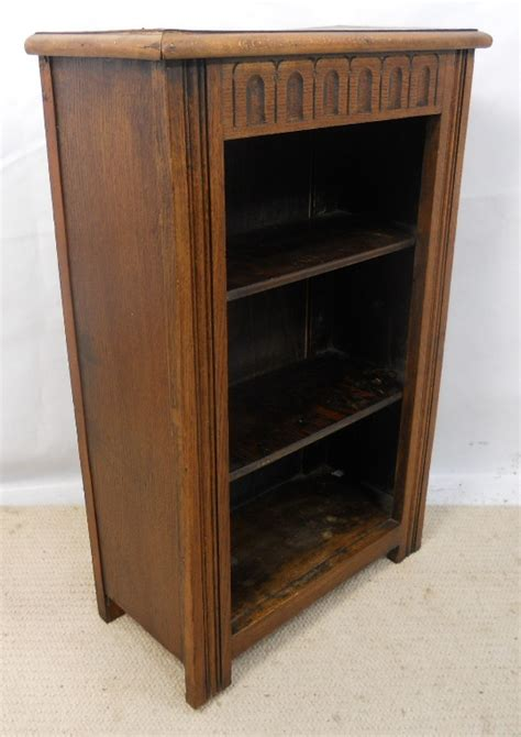 Small Open Bookcase Small Oak Open Bookcase In Antique Style Sold