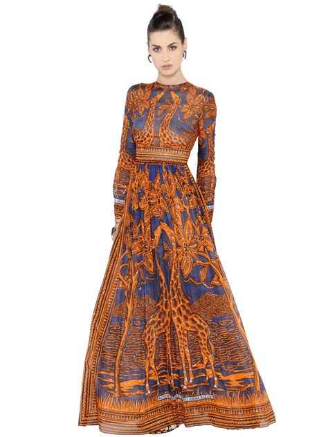 Dress Giraffe valentino giraffe printed cotton muslin dress lyst