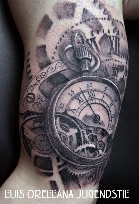 tattoo 3d mapping gears clock tattoo by mojoncio deviantart com on