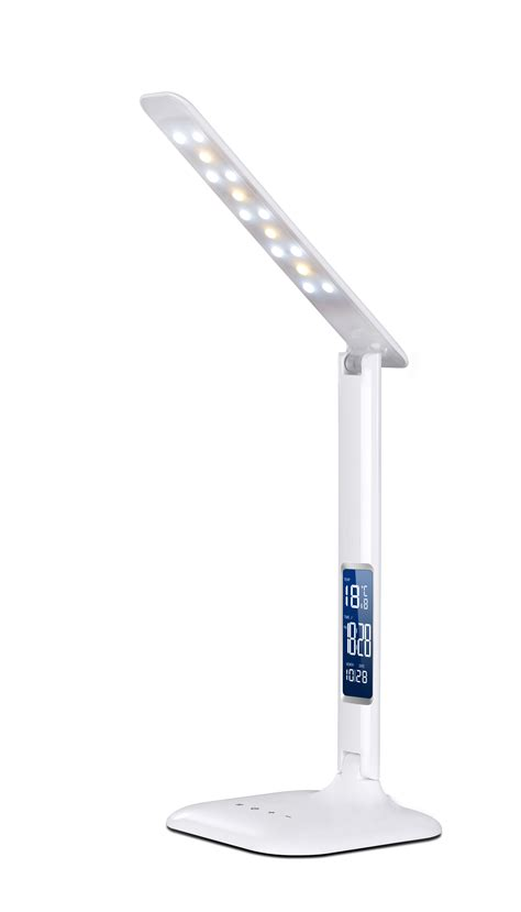 led table lamp  alarm clock supplier led desk lamp