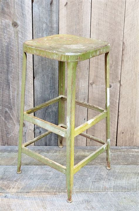 Green Metal Counter Stools by Vintage Green Metal Stool Square 30 Quot Counter Bar Stool