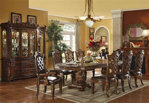 fancy dining room furniture vendome traditional dining table set