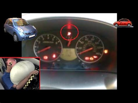 how to fix airbag warning light nissan micra k12 fix airbag warning light fault