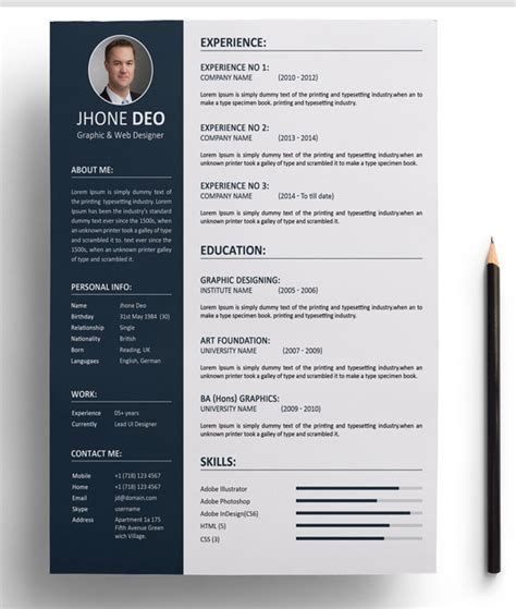 simple resume format editable resume