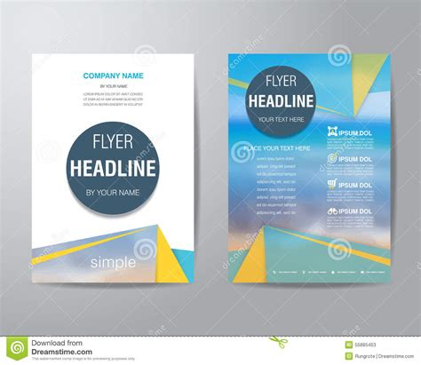 basic brochure template simple flyer www pixshark images galleries with a