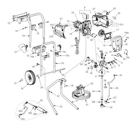 graco 395 parts diagram graco 261810 parts list and diagram sr7 sprayer