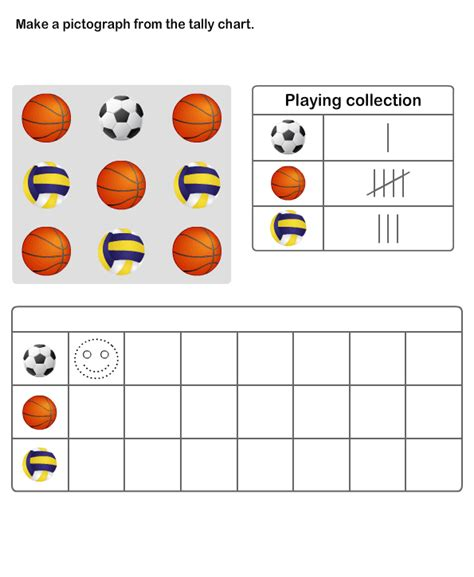 practice graph and tally chart printable pictograph