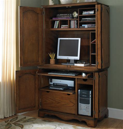 Store Your All Office Items Through Computer Desk With Small Desk With Hutch