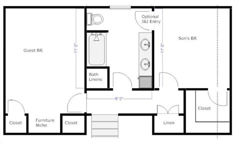 jack and jill bathroom floor plan pin by lauren bamburg on for the home pinterest