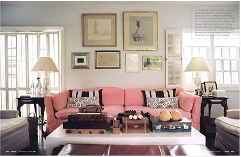 Pink Sofa Living Room Lonny You Re So Martha