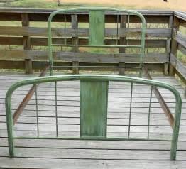 Vintage Bed Frames Antique Vintage Green Metal Bed Size Shabby Home