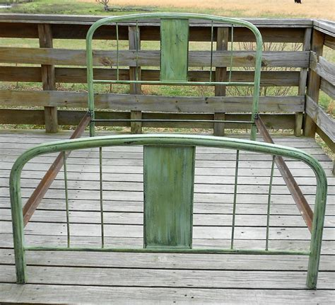antique metal bed antique vintage green metal bed size shabby home