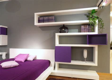 Bedroom Wall Shelves | modern bedroom design with unusual wall shelves digsdigs