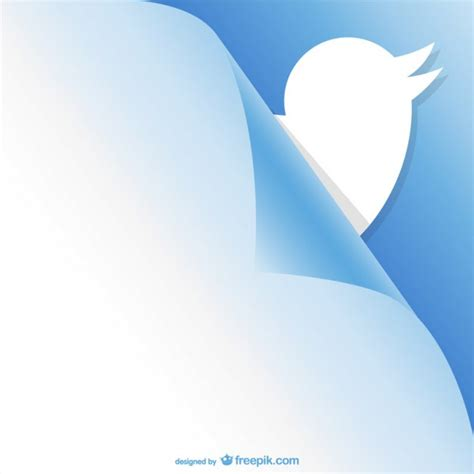 twitter layout vector twitter curled page design vector free download
