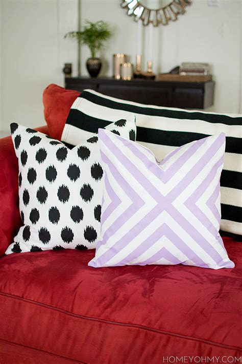 sewing throw pillows diy no sew pillow covers homey oh my
