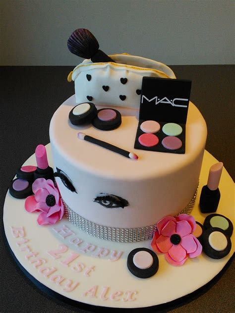 Make Birthday Cake by Mac Cosmetics 21st Birthday Cake Make Up Bag With Pink