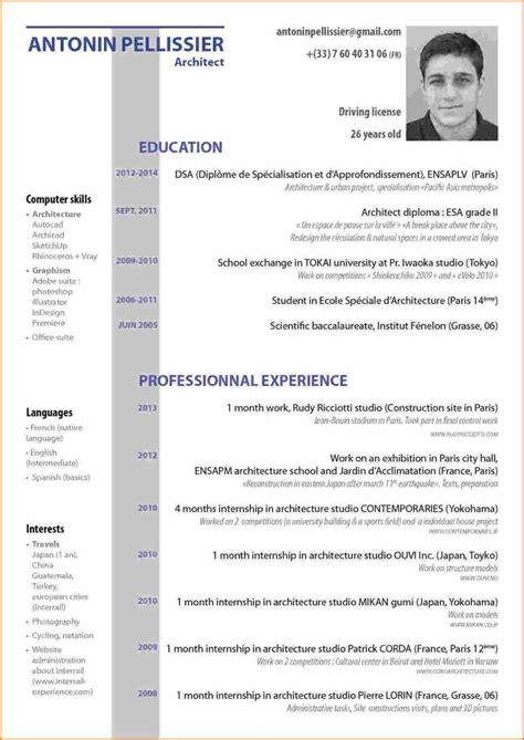 Exemple De Cv Professionnel En Francais by 15 Curriculum Vitae Exemple Waynes Boro Country Club