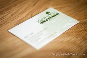landscape business cards design business cards for happy roots landscaping mito studios