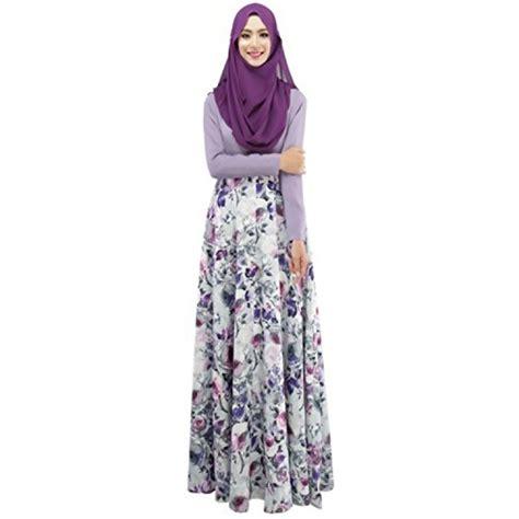 Maxi Flower Dress Busana Muslim aro lora s islamic jilbab muslim abaya floral maxi
