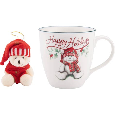Paper Cup Cold Cup 16 Oz Motif Awan Isi 50 Set Termurah pfaltzgraff winterberry mug with stuffed ornament ornaments gifts food shop the