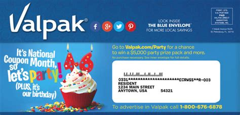 Valpak Com Sweepstakes - valpak celebrates 46th birthday with 5k birthday prize pack sweepstakes and a look