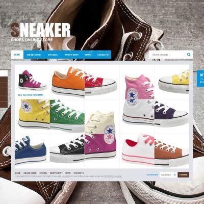 shoe store templates templatemonster