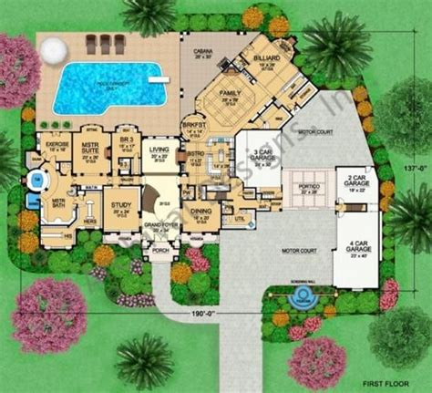 luxury mansion house plans luxury mansion house plan first floor floor plans pinterest mansions dream