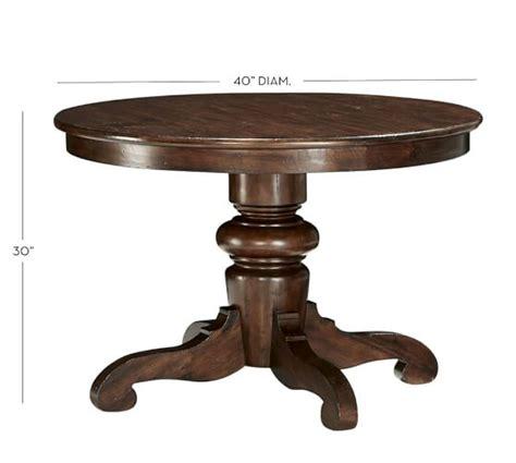pottery barn pedestal dining table tivoli fixed pedestal dining table pottery barn