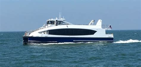 catamaran cruise nyc first new york citywide ferry vessel arrives workboat
