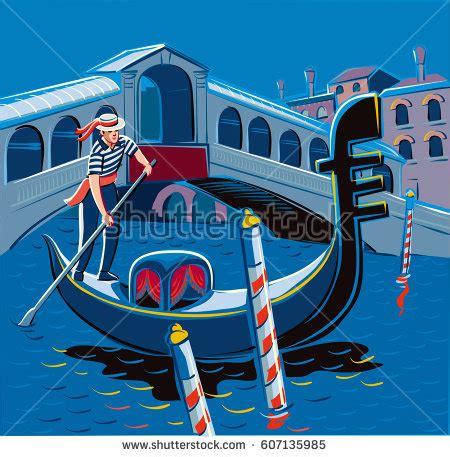 cartoon venice boat gondola stock images royalty free images vectors