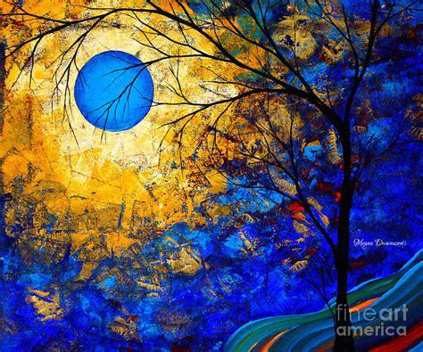Sun And Moon Duvet Cover Rich Opulent Original Landscape Painting Renaissance By