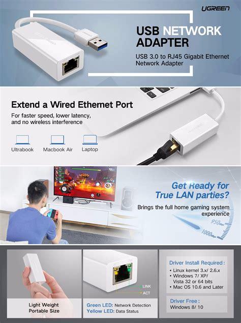 Ugreen 20255 Ethernet Network Adapter Usb 3 0 portable network adapter usb 3 0 to ethernet rj45 lan