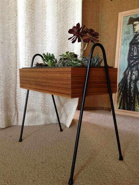 58 Best Mid Century Planters Images On Pinterest Herb Planter With Legs