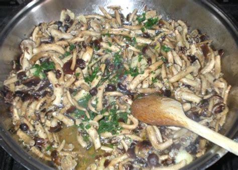 cucinare funghi coltivati funghi pioppini trifolati con dragoncello e prezzemolo